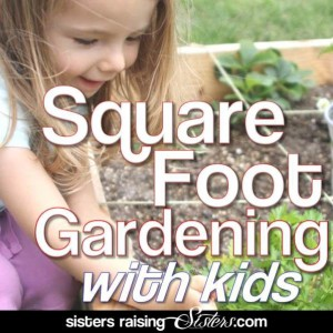Square Foot Garden With Kids
