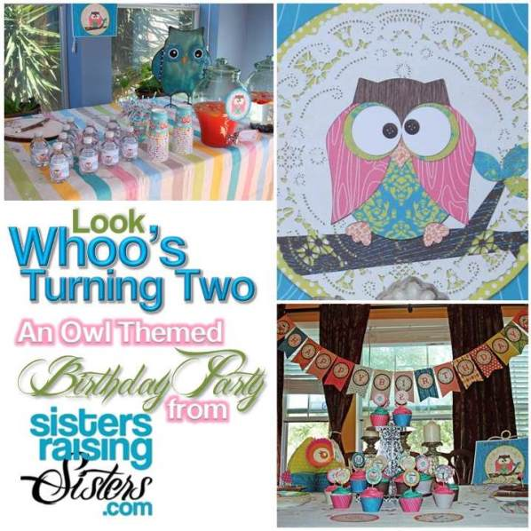 Owl Themed Birthday Party from Sisters Raising Sisters