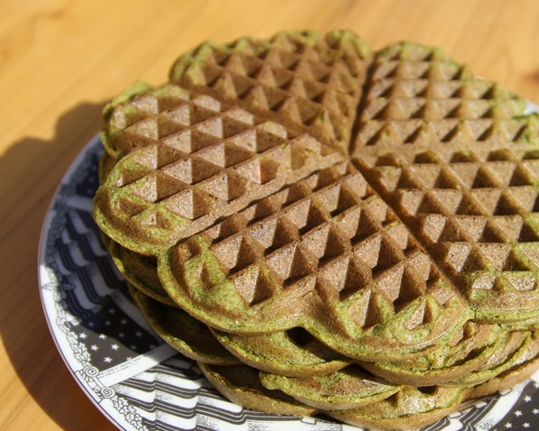 Paleo Waffles - made with spinach and carrots. So sweet and delicious!